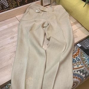Ralph Lauren 100% Linen Wide-legged Trousers